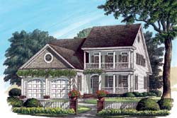 Southern-Colonial Style Floor Plans Plan: 57-200