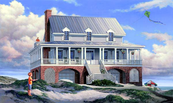 Coastal Style Floor Plans Plan: 57-201