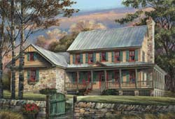 Country Style House Plans Plan: 57-203