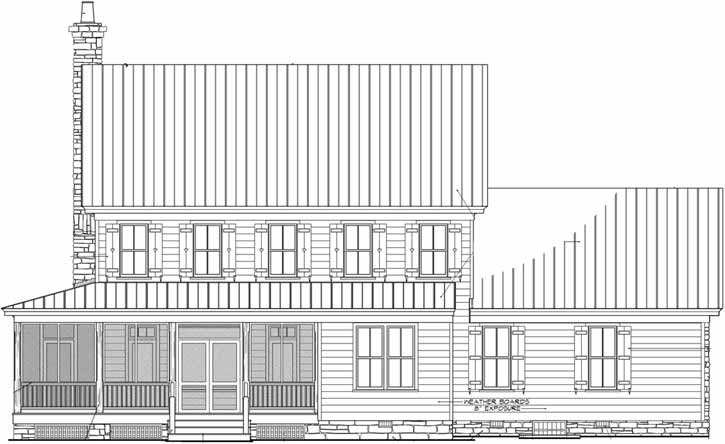 Rear Elevation Plan: 57-204