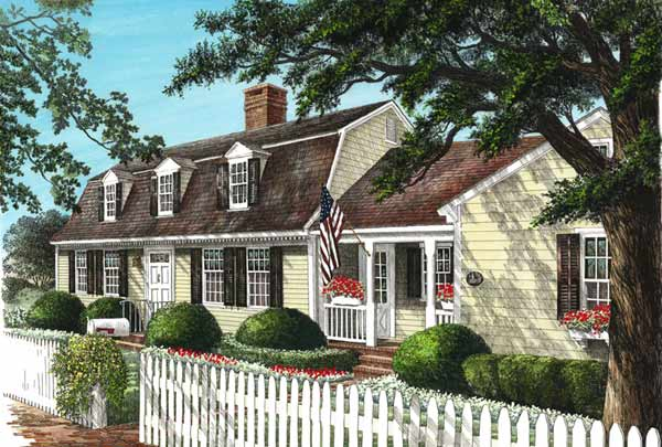 Early-american Style Floor Plans Plan: 57-206