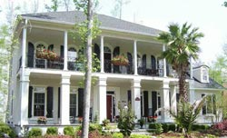 Plantation Style Home Design Plan: 57-207