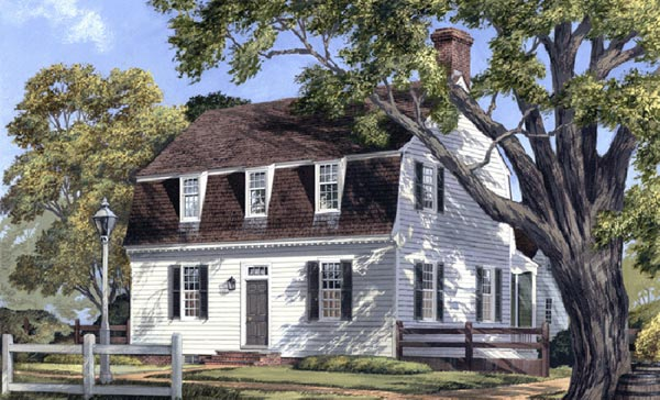 Early-american Style House Plans Plan: 57-209