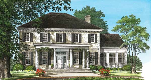 French-country Style House Plans Plan: 57-211