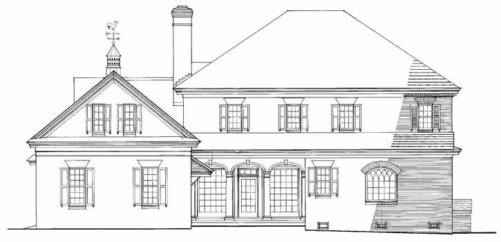 Rear Elevation Plan: 57-211