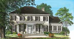 French-Country Style Floor Plans Plan: 57-211