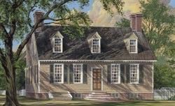 New-England-Colonial Style Floor Plans Plan: 57-219
