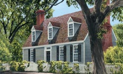 Colonial Style Floor Plans Plan: 57-220