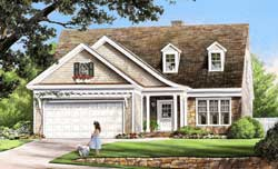 Cottage Style Home Design Plan: 57-224