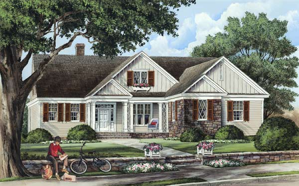 Cottage Style Home Design Plan: 57-225