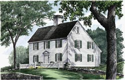 New-England-Colonial Style House Plans Plan: 57-232
