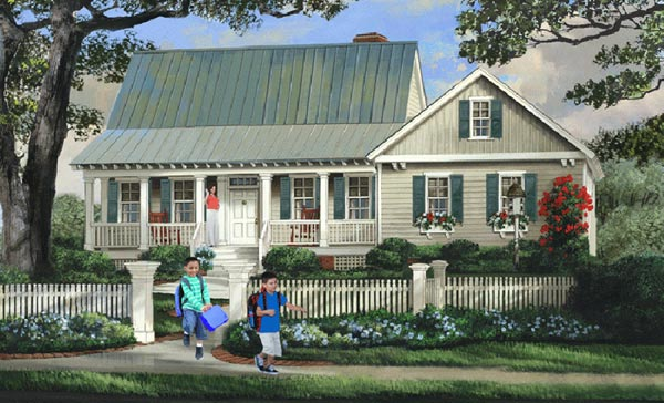 Country Style Floor Plans Plan: 57-236