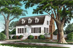 New-England-Colonial Style House Plans Plan: 57-239