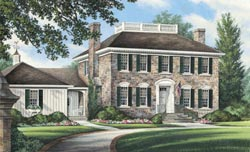 Southern-Colonial Style House Plans Plan: 57-245