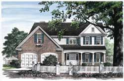 Country Style Home Design Plan: 57-246