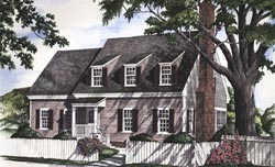 Colonial Style Home Design Plan: 57-247