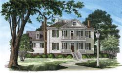 Plantation Style Floor Plans Plan: 57-251