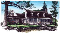Southern-Colonial Style House Plans Plan: 57-253