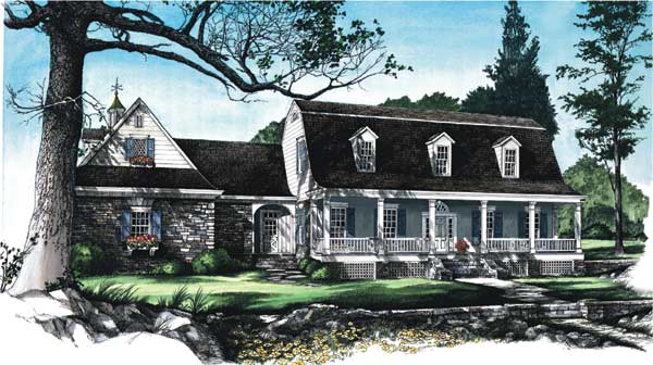 Southern-colonial Style House Plans Plan: 57-254
