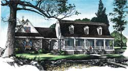 Southern-Colonial Style Floor Plans 57-254