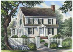 Colonial Style House Plans Plan: 57-257