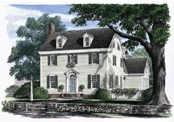 Early-American Style Floor Plans Plan: 57-260
