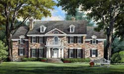 Southern-Colonial Style Floor Plans Plan: 57-265