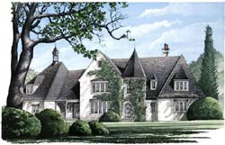 French-Country Style House Plans 57-268