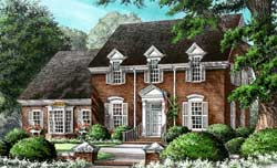 Colonial Style Floor Plans Plan: 57-269
