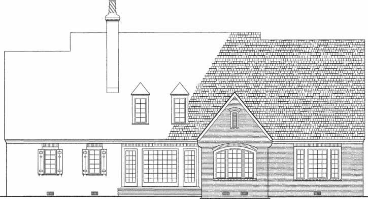 Rear Elevation Plan: 57-270