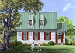 Colonial Style Floor Plans Plan: 57-273