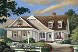 Country Style House Plans Plan: 57-281