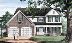 Country Style Home Design Plan: 57-282