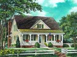 Country Style House Plans Plan: 57-283