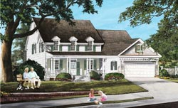 Country Style Home Design Plan: 57-286