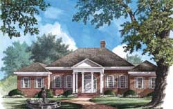 Greek-Revival Style House Plans Plan: 57-291