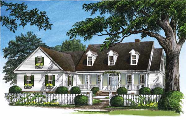 Country Style Home Design Plan: 57-294