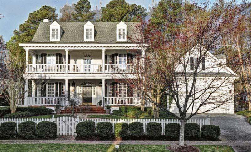 Plantation Style Home Design Plan: 57-301