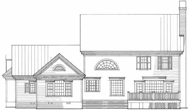 Rear Elevation Plan: 57-301