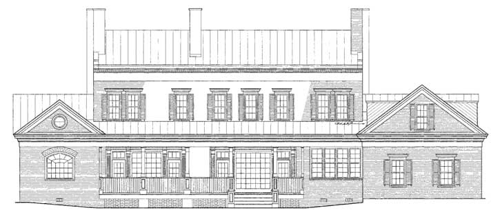 Rear Elevation Plan: 57-315