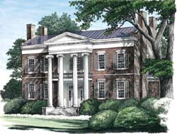 Southern-Colonial Style House Plans Plan: 57-315