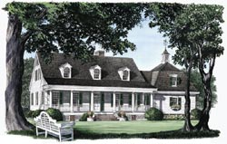 Southern-Colonial Style Floor Plans Plan: 57-316