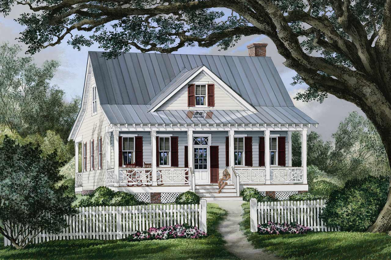 Country Style Floor Plans Plan: 57-323
