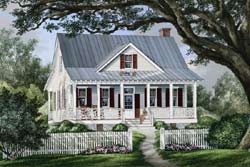 Country Style Home Design Plan: 57-323