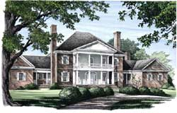 Plantation Style Home Design Plan: 57-326
