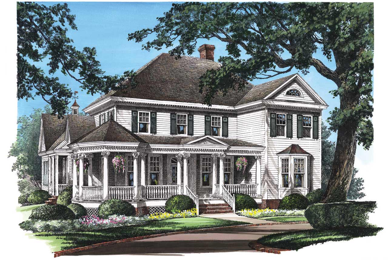Southern Style Home Design Plan: 57-336