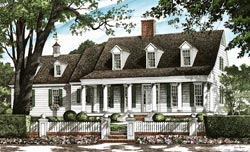 Southern Style Floor Plans Plan: 57-345