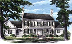 Southern-Colonial Style Floor Plans Plan: 57-346