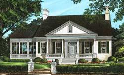 Georgian Style Home Design Plan: 57-347