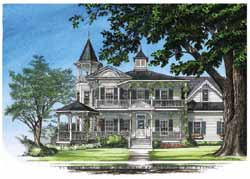 Victorian Style House Plans Plan: 57-352